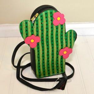 Cactus Crossbody Mini Purse Flowers & Glitter